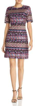 Adrianna Papell Gogo Embroidered Dress