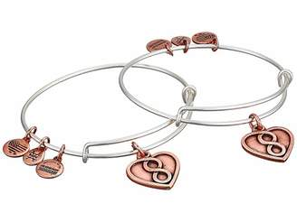 Alex and Ani Mother Daughter Infinity Heart Set of 2 Bangle