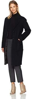 Mackage Women's Heida Reversible Coat W/Wool Outershell and Down Inner,L