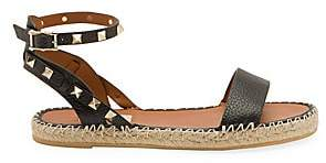 Valentino Garavani Women's Rockstud Double Leather Espadrille Sandals