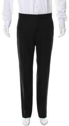 Saint Laurent Flat Front Wool Pants