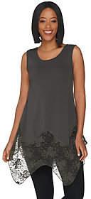 Kathleen Kirkwood Handkerchief Hem Tank Top w/Lace Extender