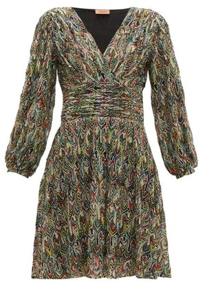 Missoni Leaf Knitted Lace Cocktail Dress - Womens - Black Multi
