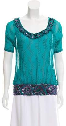 Just Cavalli Silk Embellished Top