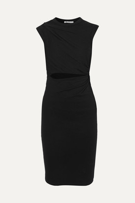 Alexander Wang Twisted Stretch-cotton Jersey Mini Dress - Black