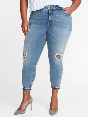 Old Navy High-Rise Secret-Slim Plus-Size Released-Hem Cropped Rockstar Jeans