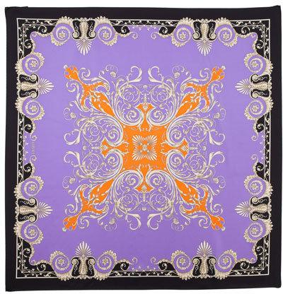Versace Foulard Square Scarf, Purple