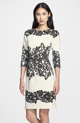Women's Adrianna Papell Placed Print Sheath Dress $138 thestylecure.com