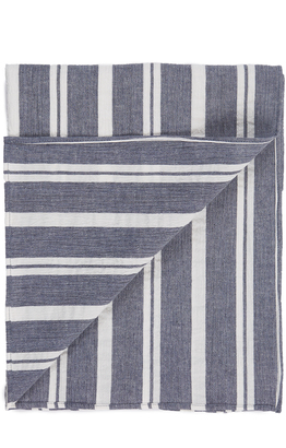 The Hill-Side Linen Blend Crepe Stripe Scarf $90 thestylecure.com