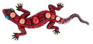 Lanvin Crystal & Resin Salamander Brooch Pin