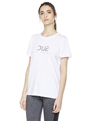 Due East Apparel Women's Short Sleeve Yoga T-Shirt Exercise Workout Top with Crossed Straps