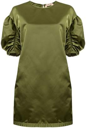 No.21 ruched sleeve dress