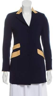 Michele Negri Button-Up Wool Blazer