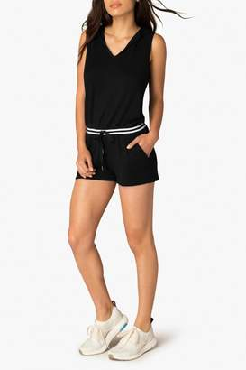 Beyond Yoga Hooded Varsity Romper