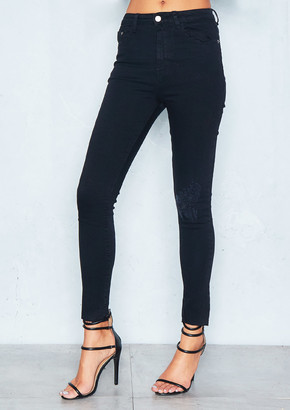 Ever New Penny Black Distressed Knee Skinny Jeans