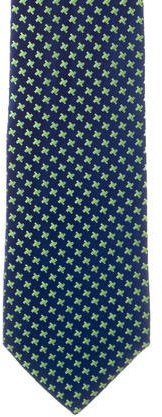 CharvetCharvet Houndstooth Silk Tie