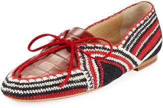 Gabriela Hearst Hays Crochet Flat Loafer