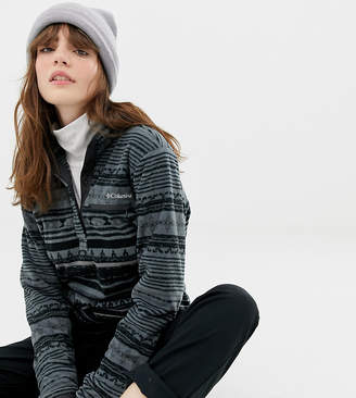 Columbia Mountain Side Printed Pull Over Fleece in Black
