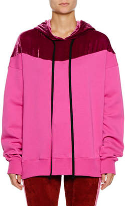Unravel Hooded Colorblock Pullover Sweater