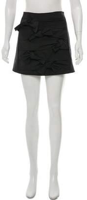 Tibi Bow Accented Mini Skirt