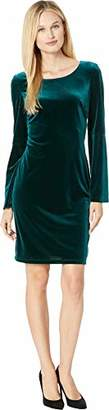 Nine West Women's Velvet Bell Sleeve T-Shirt Dress