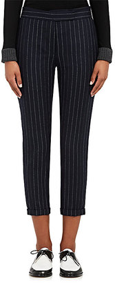 Thom Browne Women's Chalk-Striped Wool Flannel Trousers $1,130 thestylecure.com