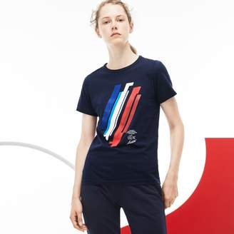 Lacoste Women's Tricolor Collection Print Jersey T-shirt