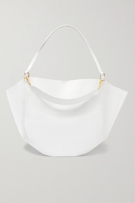 bd0e425f47 Wandler - Mia Large Glossed Textured-leather Tote - White