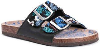 Muk Luks Marla Floral Flat Sandal - Women's
