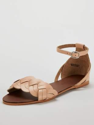 ee8a6d7b4a0c2 Very Hatti leather plait strap huarache sandal