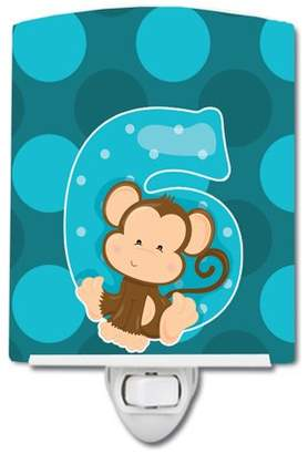 Caroline's Treasures Zoo Month 6 Monkey Ceramic Night Light