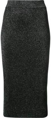 Cushnie et Ochs metallic fitted midi skirt