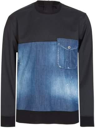 DSQUARED2 Dsquared Stretch Denim Sweatshirt