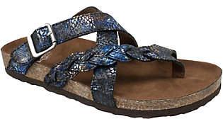 White Mountain Leather Slide Sandals - Hansen