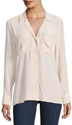 Equipment Sonny Button-Front Long-Sleeve Pajama Top