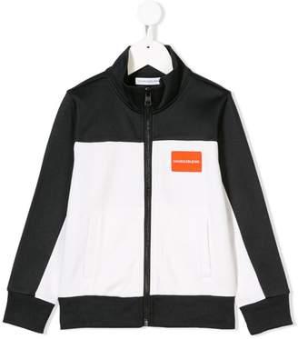Calvin Klein (カルバン クライン) - Calvin Klein Kids ロゴ ジップアップ ジャケット