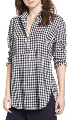 Madewell Gingham Side Button Popover Shirt