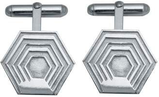 Edge Only - Hexagon Cufflinks in Silver