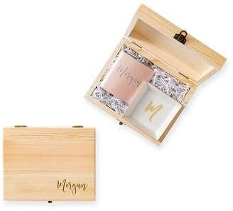 Mark And Graham Wooden Gift Set, Flask and Catchall