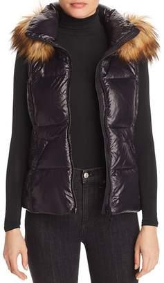 Aqua Faux-Fur-Trim Puffer Vest - 100% Exclusive