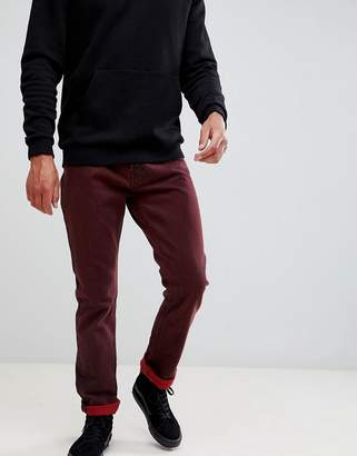 Weekday vacant straight fit rosewood punk jeans