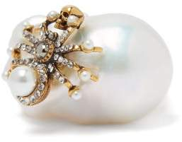Alexander McQueen Spider Baroque Pearl Ring - Womens - Pearl