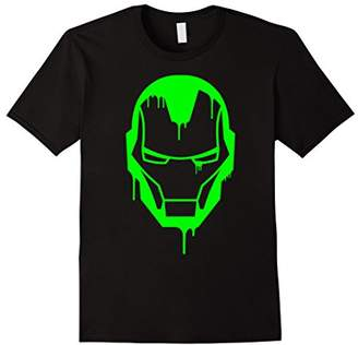 Marvel Iron Man Green Dripping Ooze Face Logo T-Shirt