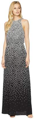 Adrianna Papell Moody Dot Maxi Halter Dress Women's Dress