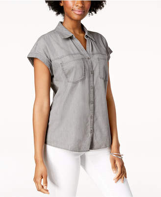Style&Co. Style & Co High-Low Short-Sleeve Shirt
