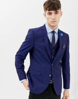 Harry Brown Blue Tonic Suit Jacket