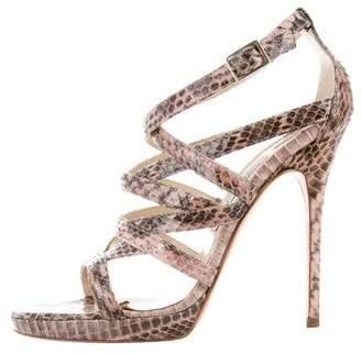 Jimmy Choo Python High-Heel Sandals