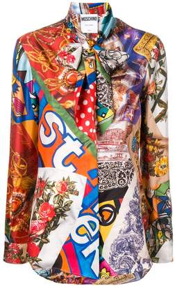 Moschino printed silk shirt