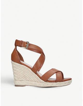 d953d1c2e5 Carvela Smashing faux-leather cross strap espadrille wedge sandals