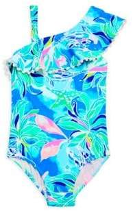 Lilly Pulitzer Toddler's, Little Girl's & Girl's Joni UPF50+ One-Piece Printed Swimsuit